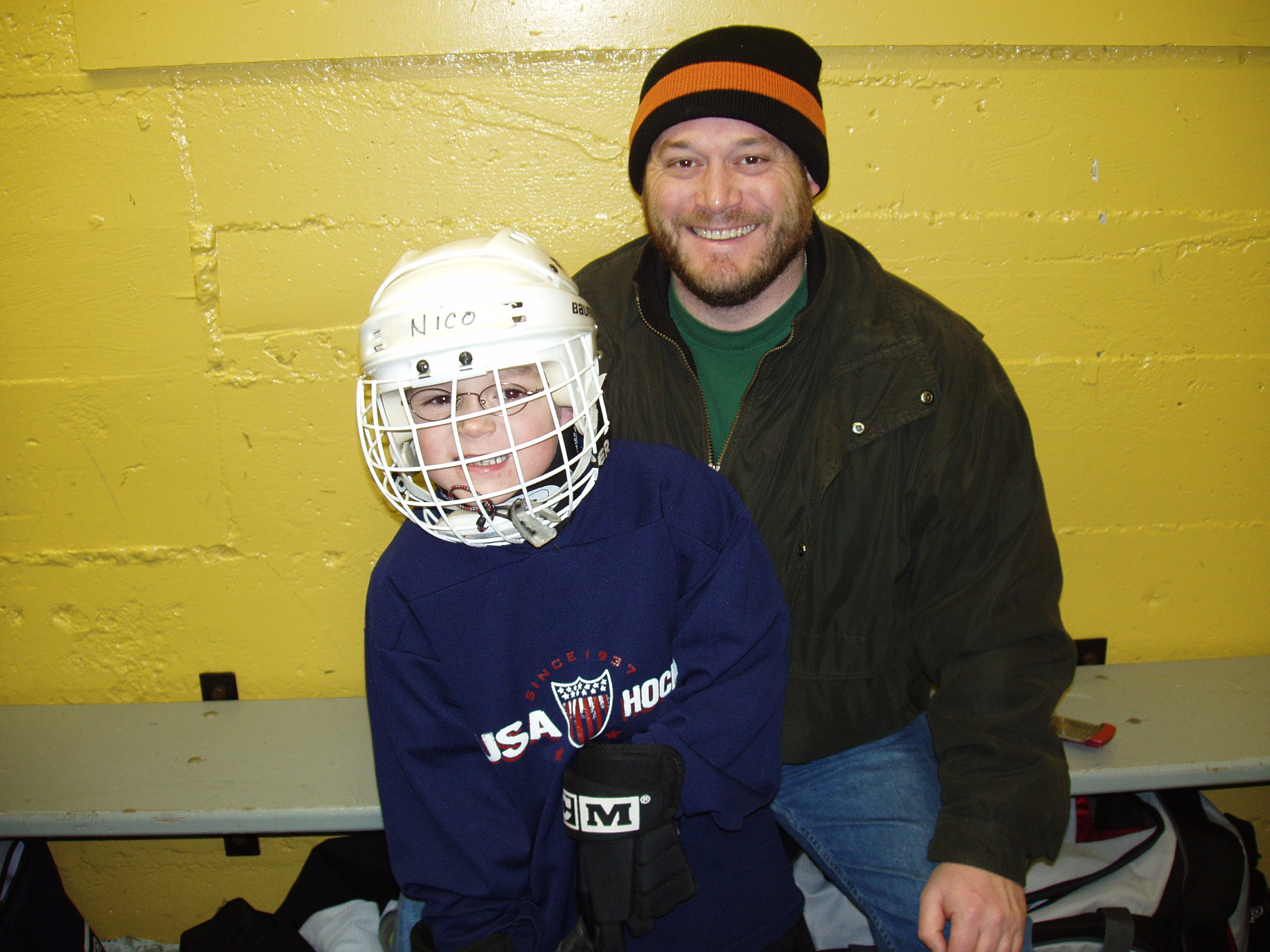 Me and My Youngest Son in Canada (his team went 3-0!)